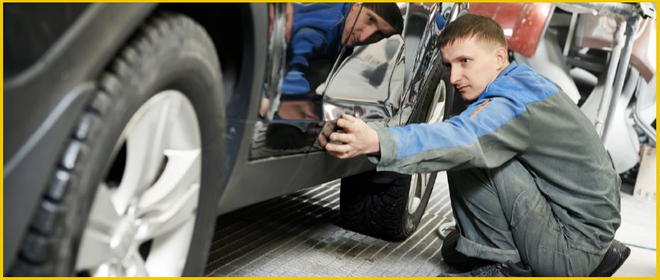 Mechanic performing out-of-province inspection services in Edmonton